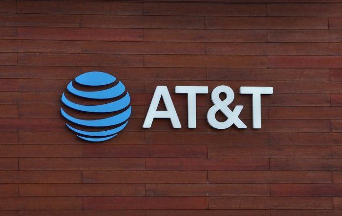 ATT logo on wooden wall