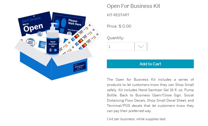 """American Express """"Open For Business"""" kit"""