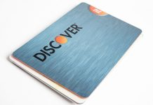 Discover It card over white background