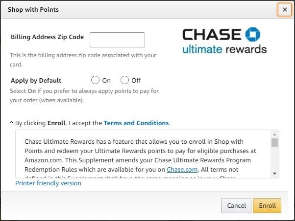Linking Chase Ultimate Rewards on Amazon