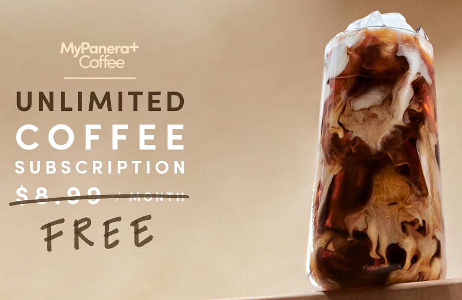 Panera Bread unlimited coffee subscription hero