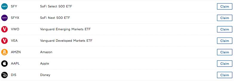 SoFi Invest - claim free stock
