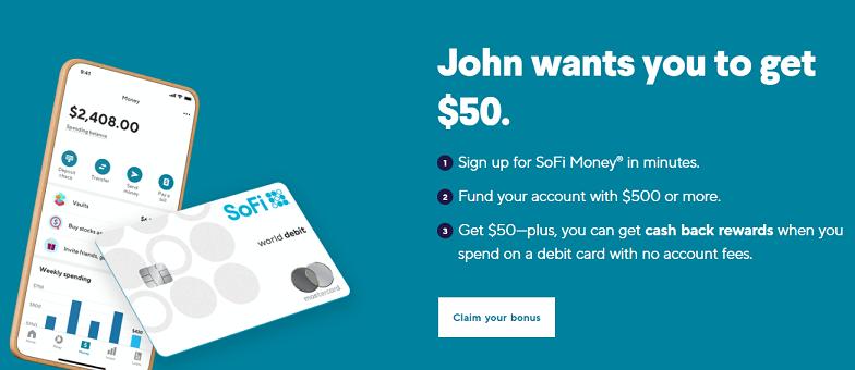 SoFi Money referral $50 offer