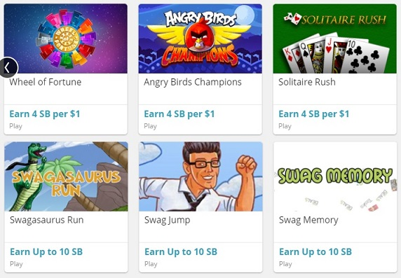 Play games on Swagbucks