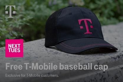 Free baseball cap via T-Mobile Tuesdays