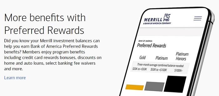 Bank of America Preferred Rewards more benefits splash image