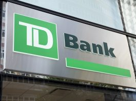 TD Bank logo on building
