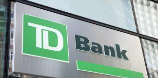 TD Bank logo on building
