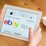 eBay web site shown on tablet