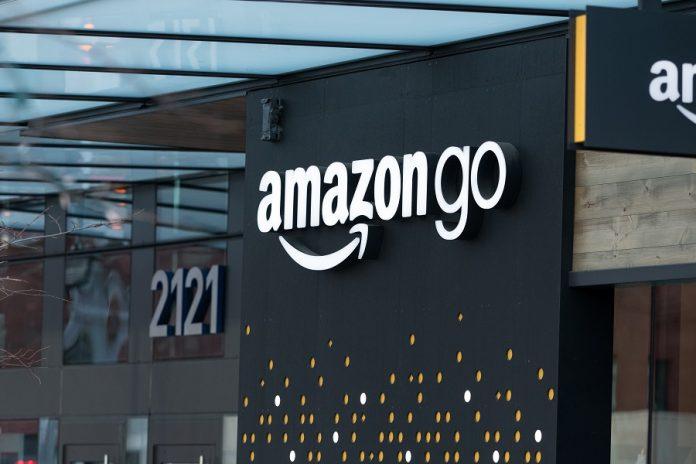 Amazon Go logo on store building