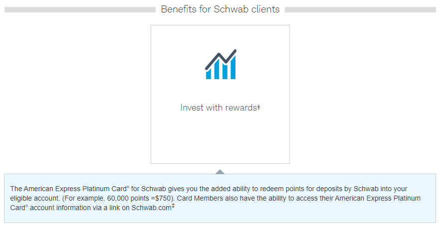 Charles Schwab Amex Platinum 25% cash conversion bonus
