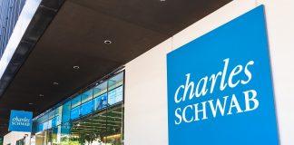 Charles Schwab logo on HQ building