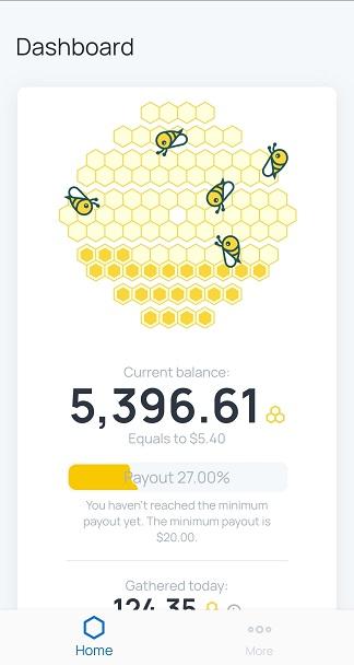 Honeygain dashboard screenshot