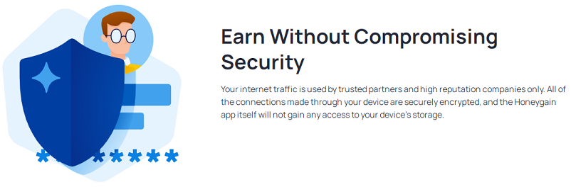 Earn without compromising security with Honeygain