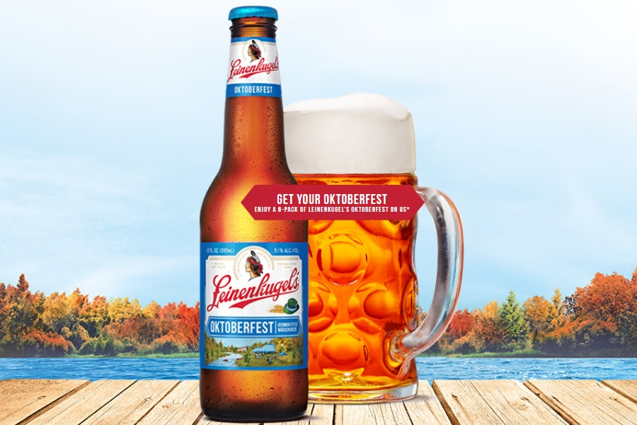 Leinenkugel Beer Ocktoberfest promotion hero image