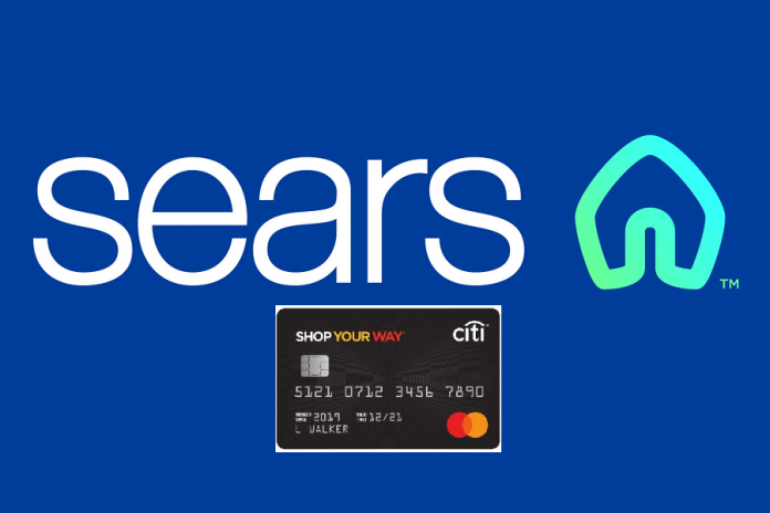 Sears logo with Citi Shop Your Way credit card