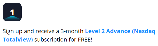 Webull free Level 2 Advance subscription