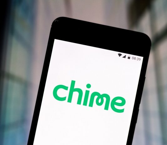 Chime logo on mobile phone