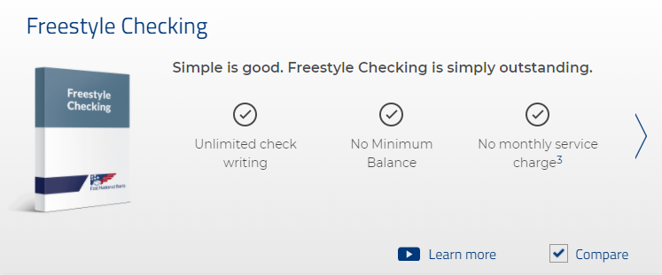 Freestyle checking account