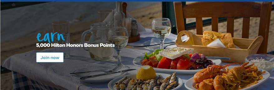 Hilton Dining - earn 5,000 points when you join