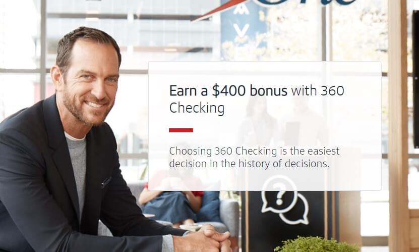 360 Checking $400 bonus landing page image
