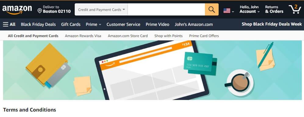 Amazon debit card promo Terms & Conditions