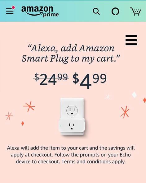 Amazon smart plug for $4.99 Alexa promotion