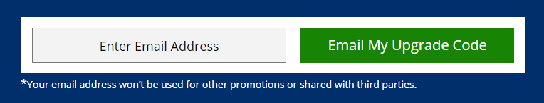 Chase Private Client email my upgrade code form