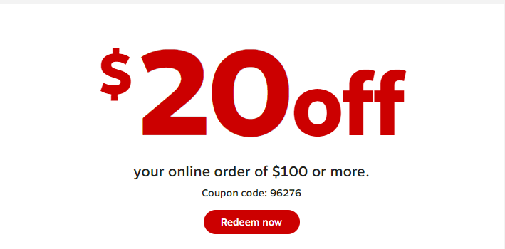 Staples $20 off $100 coupon