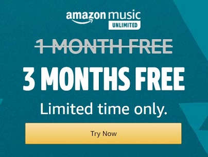 Amazon Music Unlimited 3 months free trial