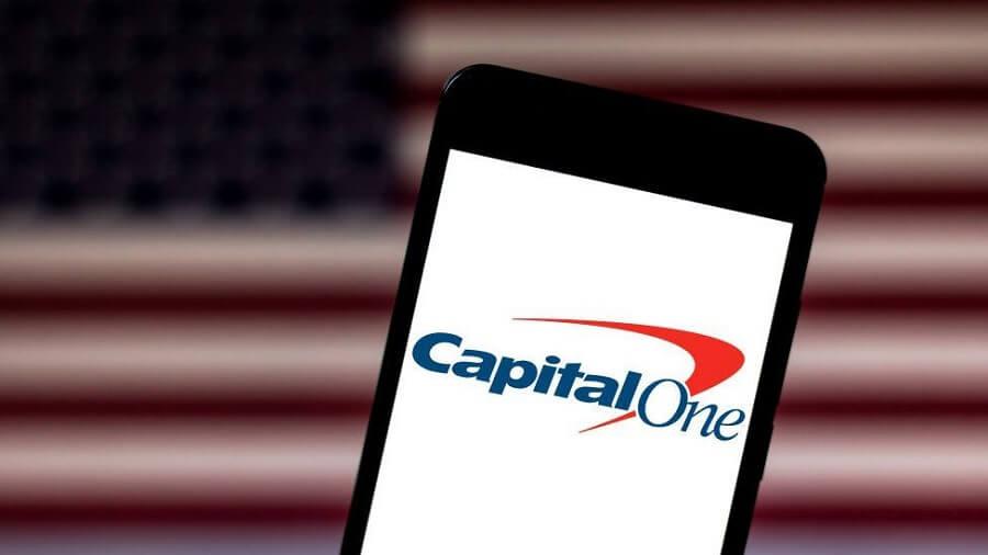 Capital One logo on phone