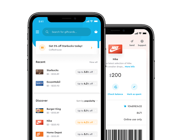 CardCash mobile app