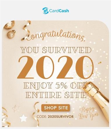 CardCash promo code 2020SURVIVOR