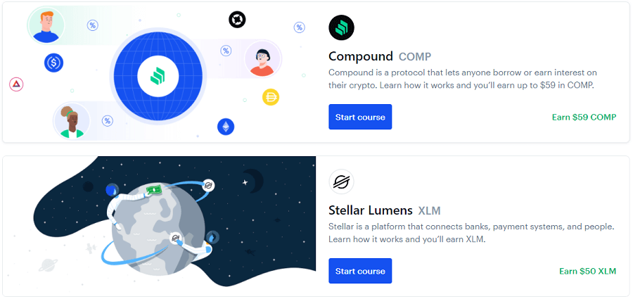 Coinbase Earn - Compound (COMP) and Stellar Lumens (XLM) offers