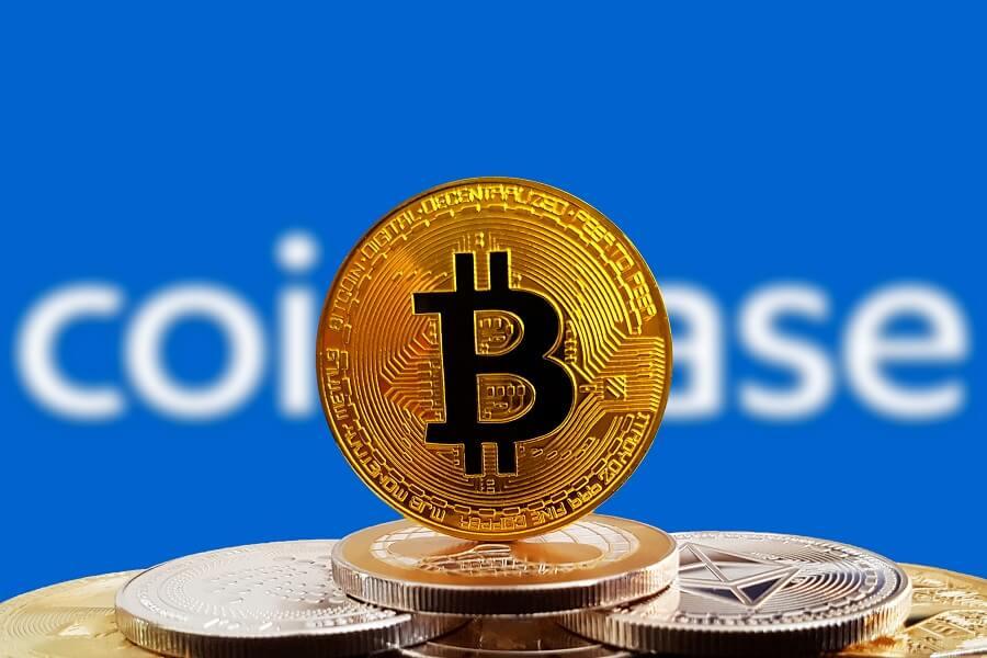 Coinbase with Bitcoin hero image