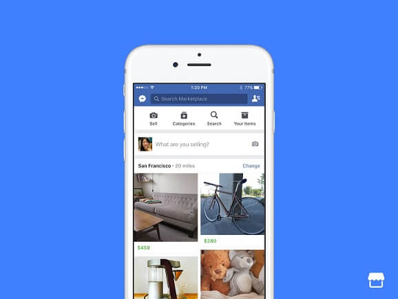 Facebook Marketplace listing example