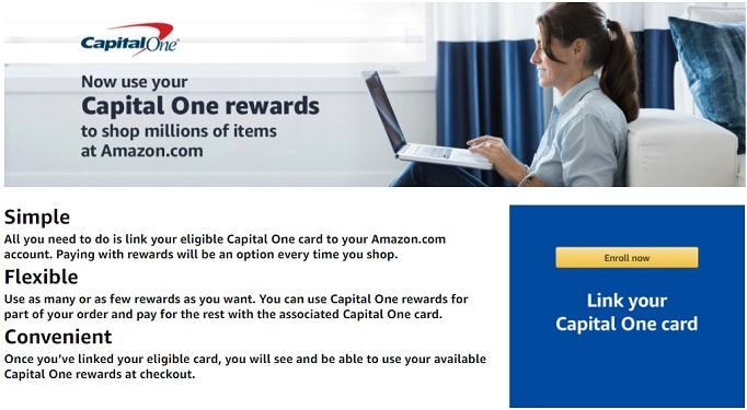 Link Capital One Rewards to Amazon