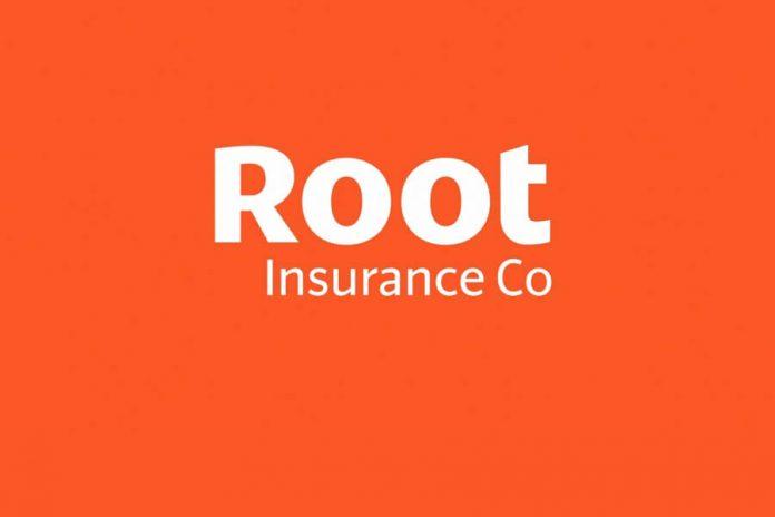 Root Insurance logo on orange background