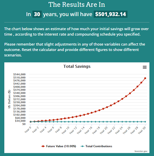 10-year return on $25,000 at 10% APY