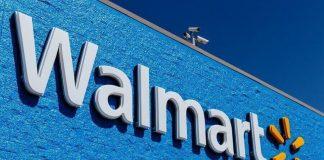 Walmart logo on store building