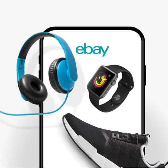 eBay app - random products popping out in 3D