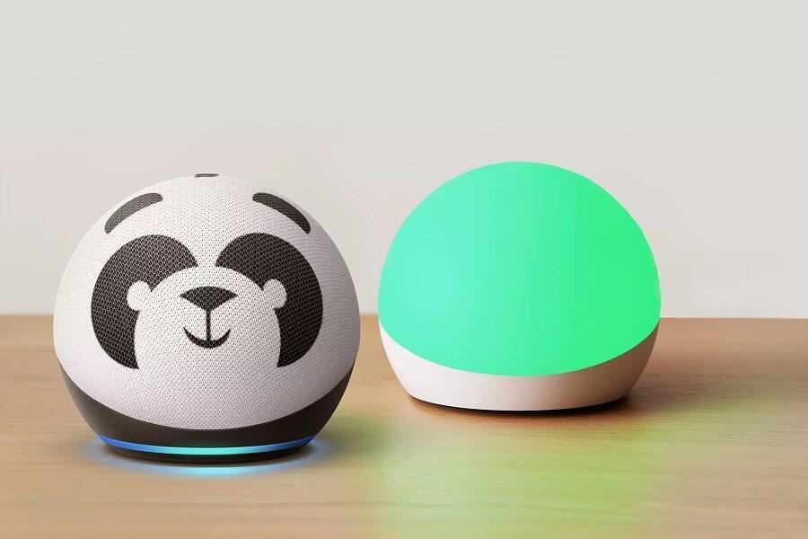 Amazon Echo Glow on desk hero image