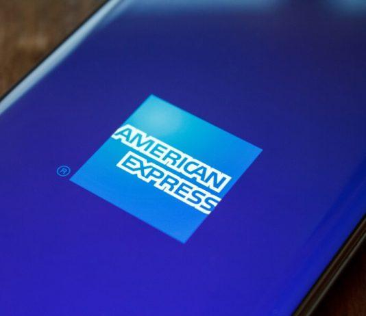 American Express logo on phone hero image
