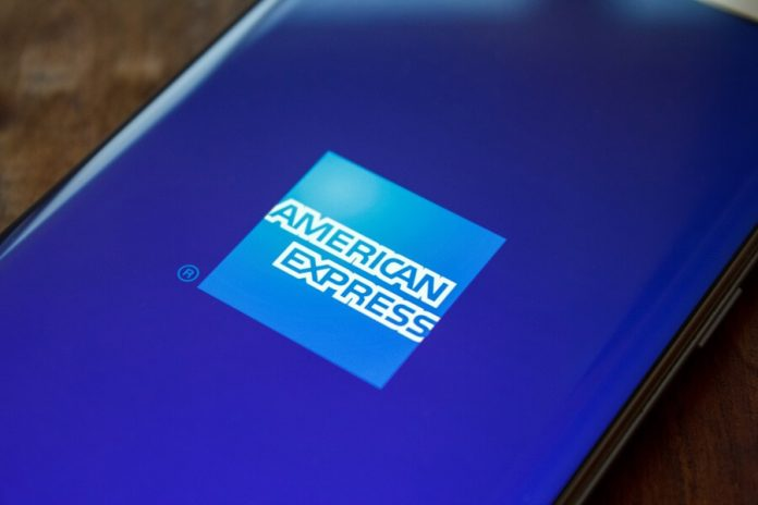 American Express logo on phone hero image