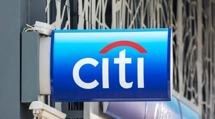 Citi logo on building sign hero image