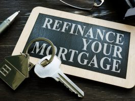 Refinance Your Mortgage phrase on keyholder