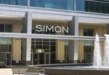 Simon Mall logo on building
