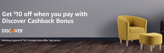 Amazon Discover $10 off $50 promo