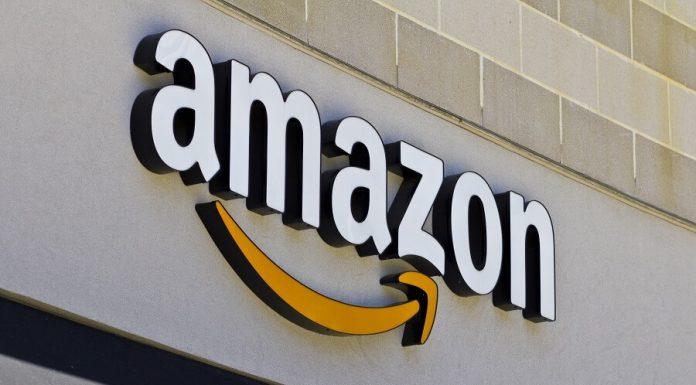 Amazon sign on stone building