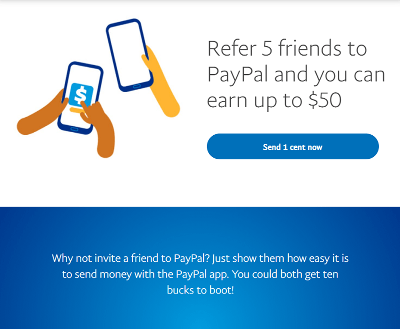 PayPal Referral $10 offer